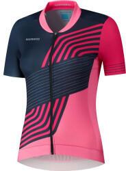 shimano-sagami-short-sleeve-zip-shirt-womans-2021-navy-pink