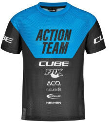 Cube Junior X Actionteam S/S Jersey Kids blacknblue (2021)