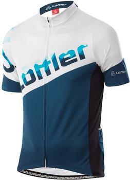 Löffler Premium Sportswear Löffler Messenger Full-Zip Biketrikot Men (2021) deep water