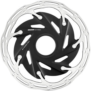 SRAM Centerline XR Rotor Bremsscheibe Zweiteilig Abgerundetes Profil Centerlock schwarz-silber 140mm