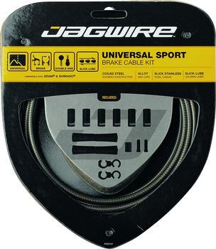 Jagwire Sport Universal Bremszugset für Shimano/carbon silber