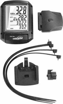Security Plus Fahrradcomputer, kabellos DK 134 - 4in1 Codierte Übertragung mit Radsensor
