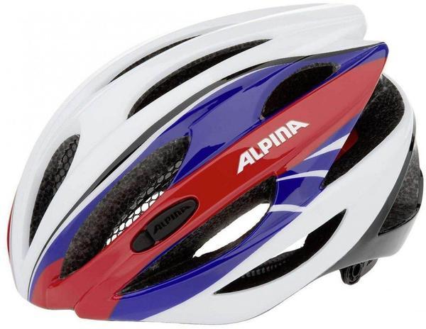 Alpina Cybric blau-weiß-rot Fahrradhelm