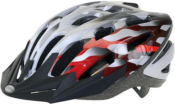 Ventura Fahrradhelm - Ventura silber-weiß-rot