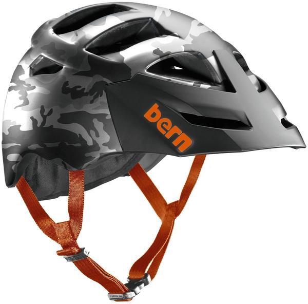 Bern Morrison Helm inkl. Breakaway-Visier grau-camouflage 54-57 cm Mountainbike Helme