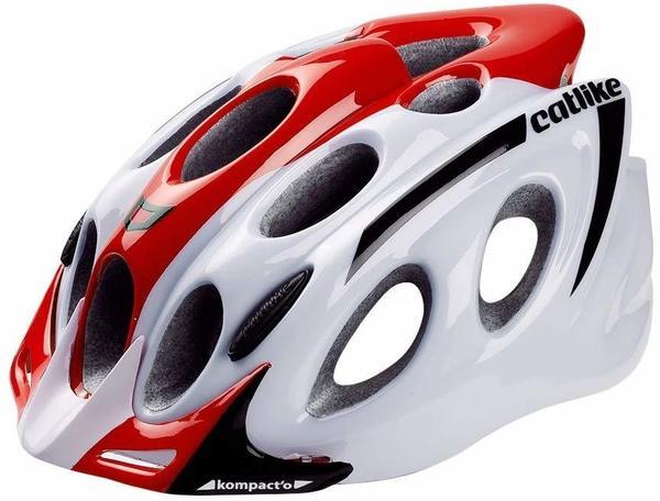 Catlike Kompact'O Helm - weiß/rot/schwarz - M Rojo Blanco brillo