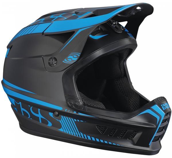 IXS Xact Fullface Helmet black/fluo blue 60-62 cm 2017 Downhill Helm - black/fluor L/XL