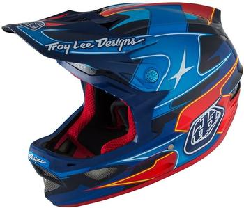 Troy Lee Designs D3 MIPS 58-59 cm render blue