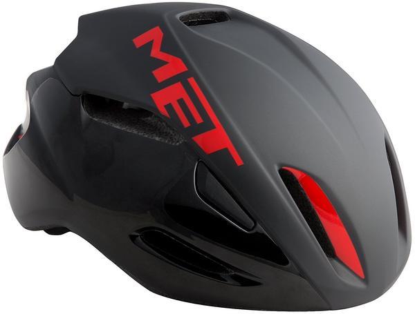 MET Manta Helm schwarz-rot