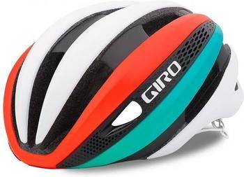 Giro Synthe Matte white/turquoise/vermillion 59-63