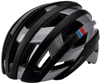 Alpina Campiglio Helm black-dark silver-blue-red 55-59cm 2017 Rennradhelme