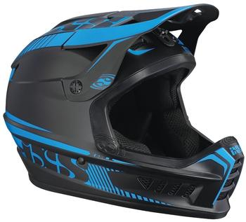 IXS Xact Helm - black/fluor blue 49-52 cm 2017 Downhill Helme
