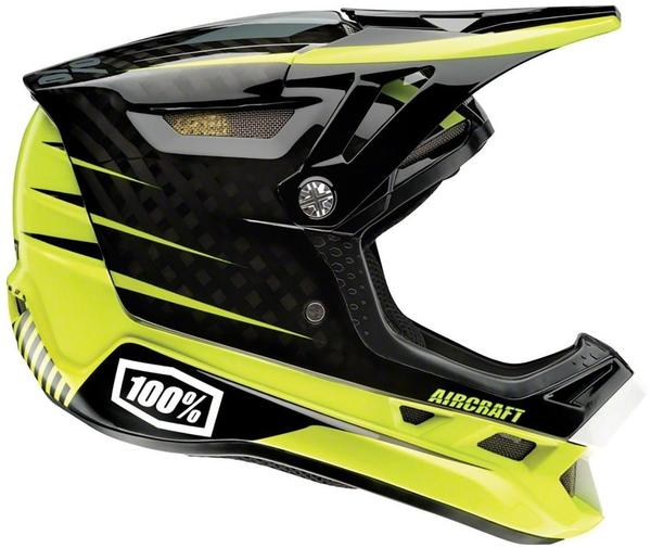 100% Aircraft Mips Fullface Helm schwarz-gelb