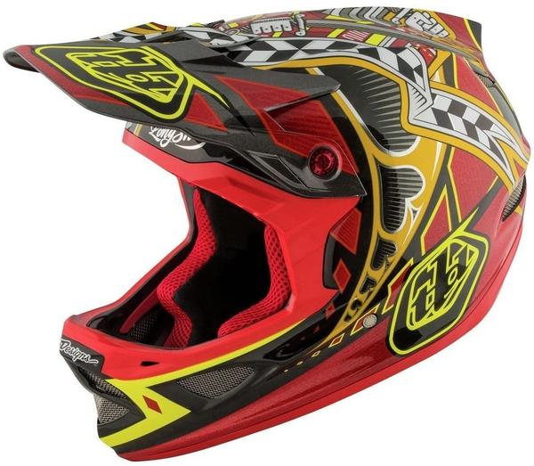 Troy Lee Designs D3 Helmet Mips Longshot Red XL | 60-62cm 2017 Downhill Helme
