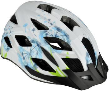 Fischer Urban Helm weiß-Blumen