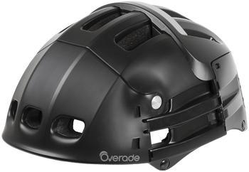 OVERADE Helme Plixi faltbar S/M 54-58 cm schwarz matt