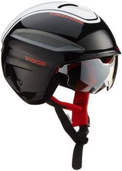 CRATONI Vigor 58-59 cm schwarz/weiß/rot glanz