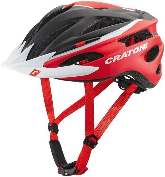 Cratoni Pacer schwarz-rot-weiß