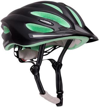 Hudora Fahrradhelm Basalt, Gr. 56-59, schwarz/grün