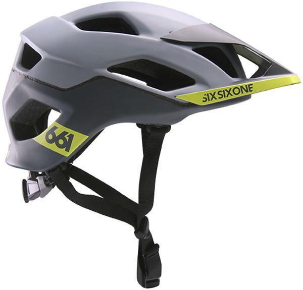 SixSixOne Evo AM Patrol grey-yellow