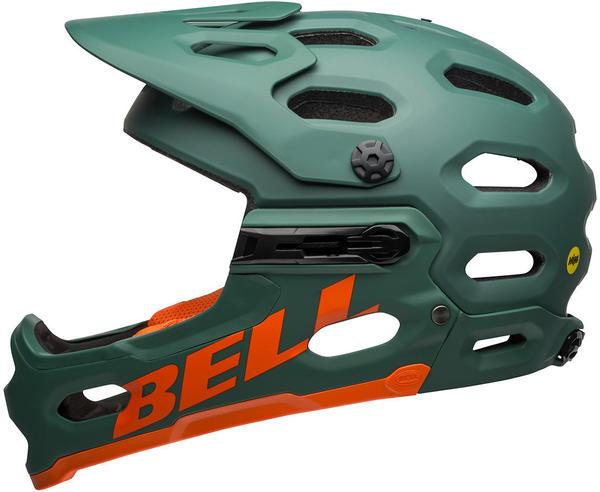 Bell SUPER 3R MIPS green-orange