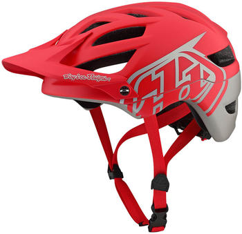 Troy Lee Designs A1 MIPS red-silver
