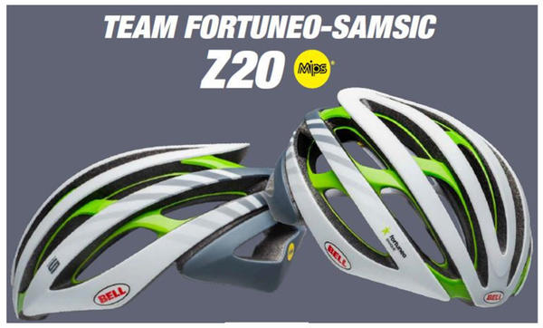 Bell Z20 Mips Team Fortuneo white-silver-green