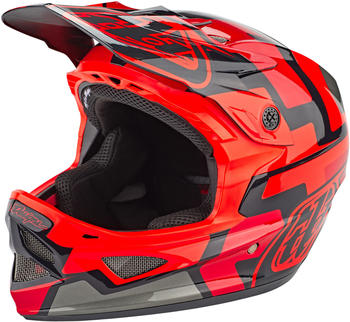 Troy Lee Designs D3 Fiberlite Speedcode red