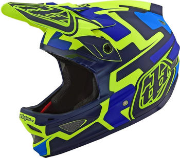 Troy Lee Designs D3 Fiberlite Speedcode blue-yellow