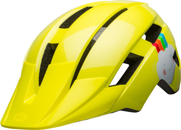 Bell Sidetrack II helmet Kleinkind yellow rainbow