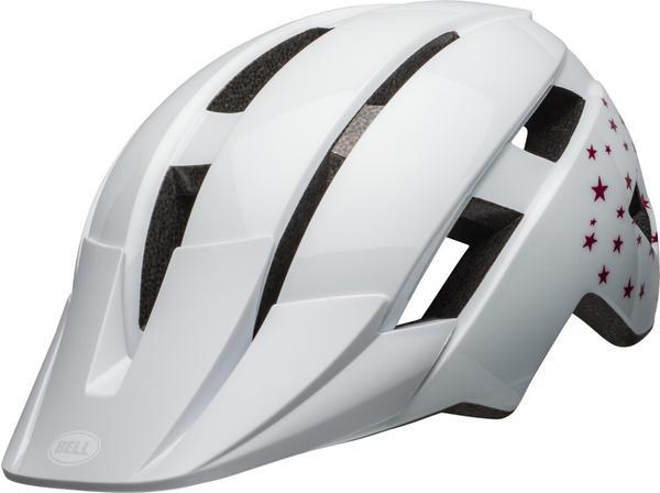 Bell Sidetrack II helmet Jugend white stars