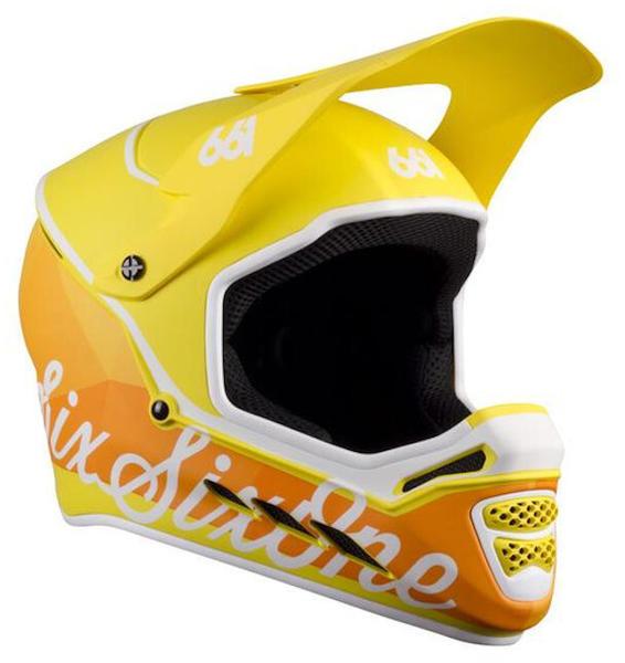 SixSixOne Reset Full-Face helmet geo citrus