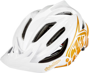 Troy Lee Designs A2 MIPS Decoy helmet pearl white/gold