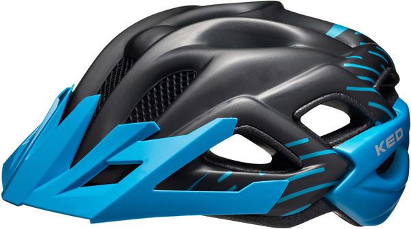 KED Status helmet Kid's black/blue matte