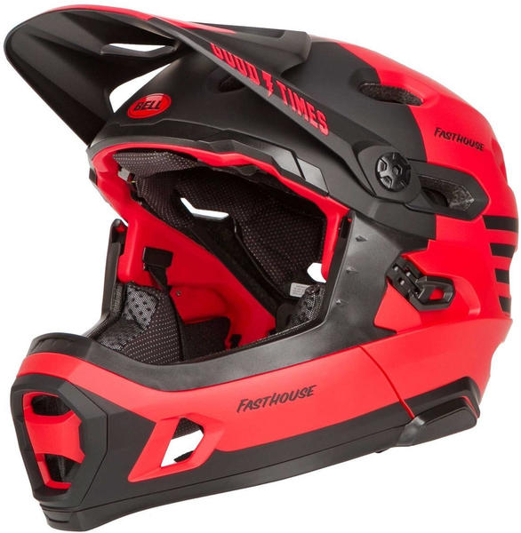 Bell Super DH Mips red black