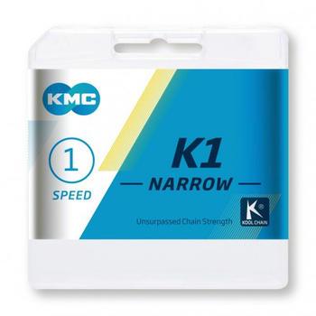 KMC K1 Narrow 1-fach BMX silver 100