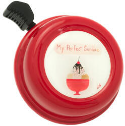 LIIX Fahrradklingel Colour Bell , Bowl Of Pleasure Rot
