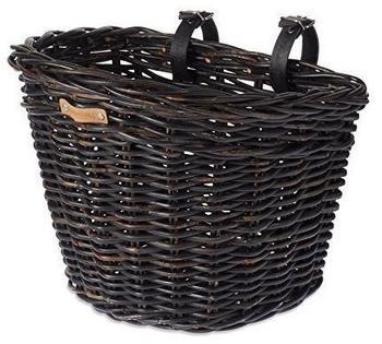Basil Darcy Rotan Front Wheel Basket, nature melee (2021) black