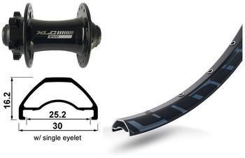 """Bike-Parts V-Rad 29"""" XLC 6-Loch..szTA 15 32L Rodi Ready 25 Disk sz .Niro-Spei.(sz)"""