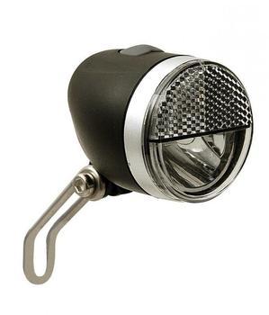 Import LED-Scheinwerfer Secu Sport S mit Halter ca.40 Lux f. Nabendynamo