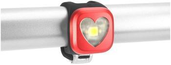 Knog Blinder 1 weiße LED Hearts, rot