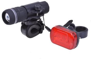 Filmer Taschenlampe mit 1W LED, 3 LED Rücklicht, mit Halter