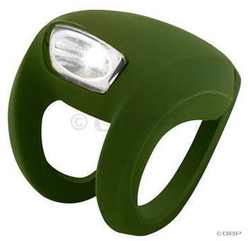 Knog Frog Strobe weiße LED oliv