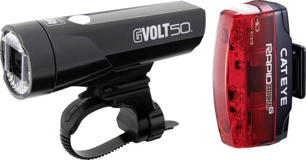 Cateye GVolt 50 + Rapid Micro G
