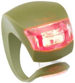 Knog Beetle rote LED khaki