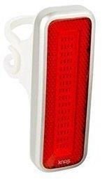 Knog Blinder MOB V Lampe, rote LED, Mr Chips, silvernicht STVZO zugelassen