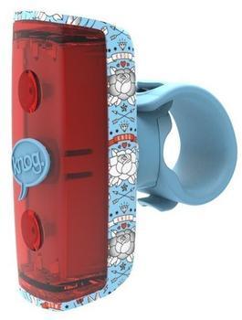 Knog Pop R Lampe, rote LED, sky blue 2016 Anicht STVZO zugelassen