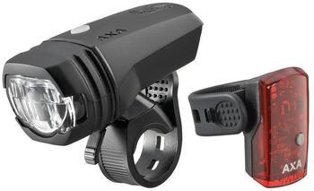 AXA basta AXA LED Akkuscheinwerfer Green Line 50 Set inkl. Rücklicht 1 LED und USB Kabel