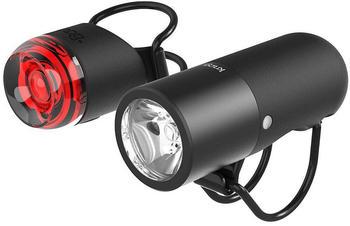 Knog Plugger Front & Rear Light Set - Schwarz