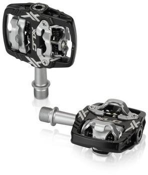 XLC Fahrrad System-Pedal PD-S18 zweiseitig SPD-kompatibel - schwarz/si
